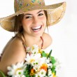 Girl with bouquet — Stock Photo #11714897