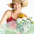 Girl with bouquet — Stock Photo #11715010