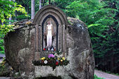Calvary in Czech Mountains — Stock Photo