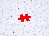 Different piece of the puzzle — Stock Photo