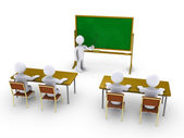 Business training as in school — Stock Photo