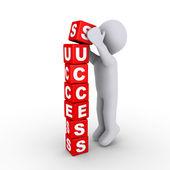 Construção dos blocos de sucesso — Foto Stock