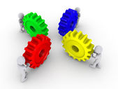 Put the right cogs together — Stock Photo