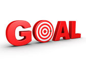 The word GOAL as a target and an arrow — Stock Photo