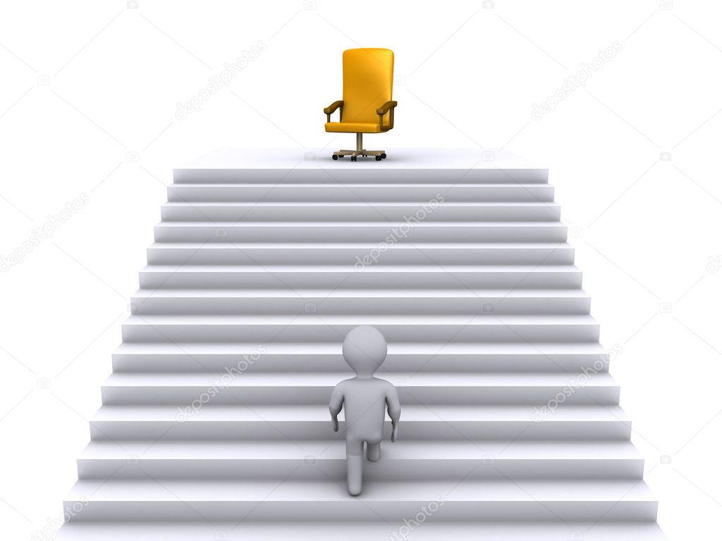 monter les escaliers pour gagner la position de l 39 entreprise photographie 6kor3dos 11825971. Black Bedroom Furniture Sets. Home Design Ideas