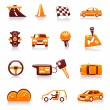 Stock Vector: Cars and automotive vector icon set