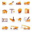 Construction and real estate vector icon set - Vettoriali Stock