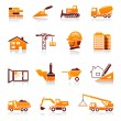 Construction and real estate vector icon set - Stok Vektör