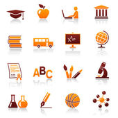 Education and school vector icon set — Stock Vector