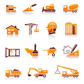 Construction and real estate vector icon set — Vector de stock