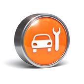 Car service - 3D button — Stock Photo