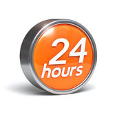 24 hours - 3D button — Stock Photo