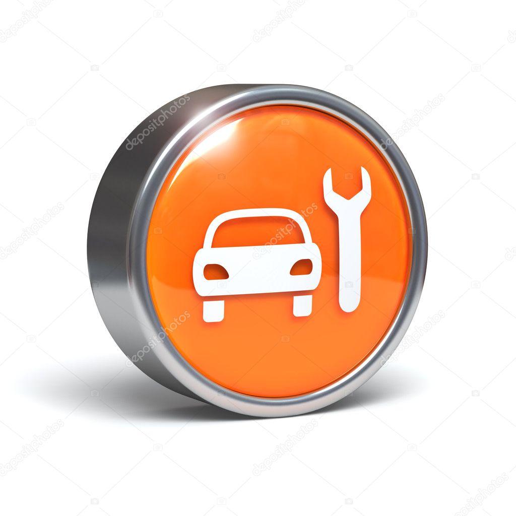Car Service 3d Button Stock Photo Cgart 11704902