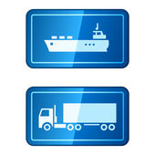 Cargo transportation vector icons — Stock Vector