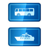 Travel transportation vector icons — Stock Vector