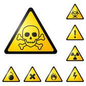 Señales de advertencia — Vector de stock