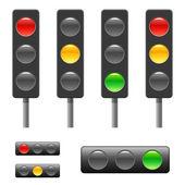 Traffic light and status bar — Stock Vector