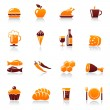 Royalty-Free Stock Vector Image: Food and drink vector icon set