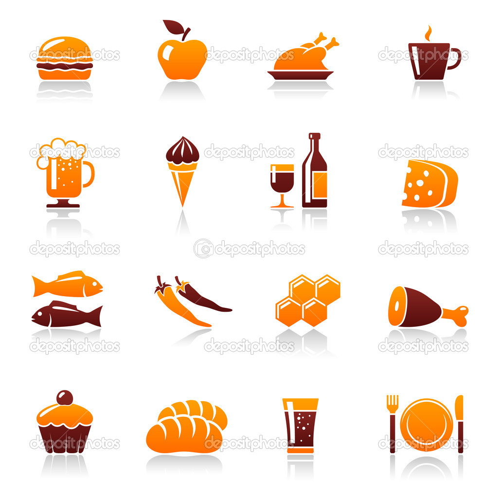 Food and drinks. Vector icon set — Stock Vector #11724318