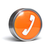 Telephone - 3D button — Stock Photo
