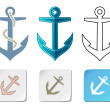 Stock Vector: Anchor icons