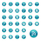Web icons, buttons. Round series 1 — Stock Vector