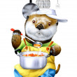 A koala cooking — Stock Photo