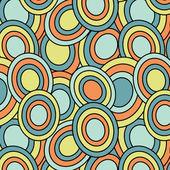 Retro oval pattern — Stock Vector