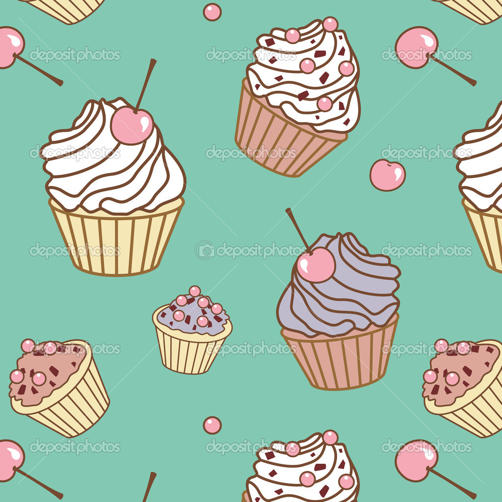 Design Patterns Of Cake : Cake pattern   Stock Vector ? Ta_Ti #11688889