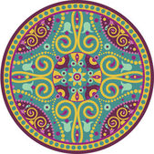 Indian-mandala — Stok Vektör