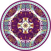 Mandala-round — Stock Vector