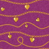Gouden kettingen patroon — Stockfoto