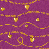 Golden chains pattern — Stock Photo