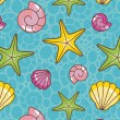 Colorful sea pattern - Stock Photo