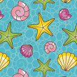 Colorful sea pattern — Stock Photo