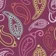 Retro paisley pattern — Stock Photo