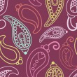 Stock Photo: Retro paisley pattern