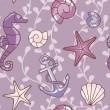Sea-violet-pattern.eps - Stock Photo