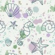 Splash-shell-pattern - Stock Photo