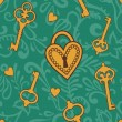 Keys-of-heart-pattern — Stock Photo