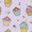 Royalty-Free Stock Photo: Retro sweets pattern
