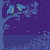 Birds-in-the-night — Stock Photo