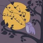 pássaro cantando — Foto Stock