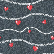 Stock Photo: Hearts-and-chains-pattern