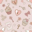 Stock Photo: Valentine-pattern