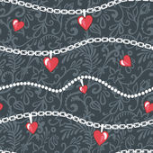 Hearts-and-chains-pattern — Stock Photo