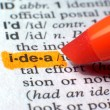 Idea Highlighted In Dictionary In Orange — Stock Photo