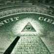 Masonic All Seeing Eye On One Dollar Bill — Stock Photo