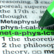 Royalty-Free Stock Photo: Metaphysics Highlighted In Dictionary In Green