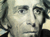 Andrew Jackson Twenty Dollar Bill — Stock Photo
